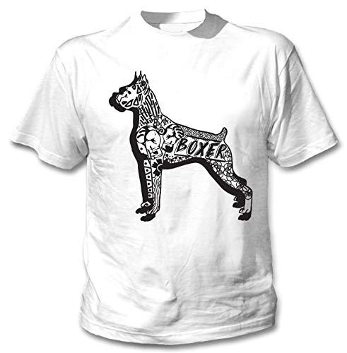 teesquare1st Men's Boxer b White T-Shirt Size XXLarge