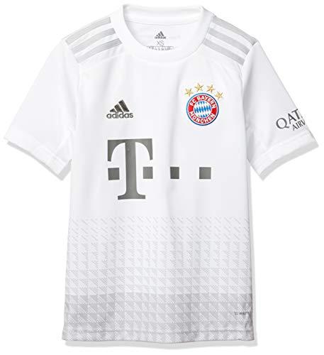 adidas Unisex-Kinder FCB A JSY Y Hemd, weiß, 140