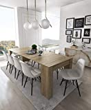 Home Innovation - Table Console Extensible, rectangulaire avec rallonges, jusqu'à...