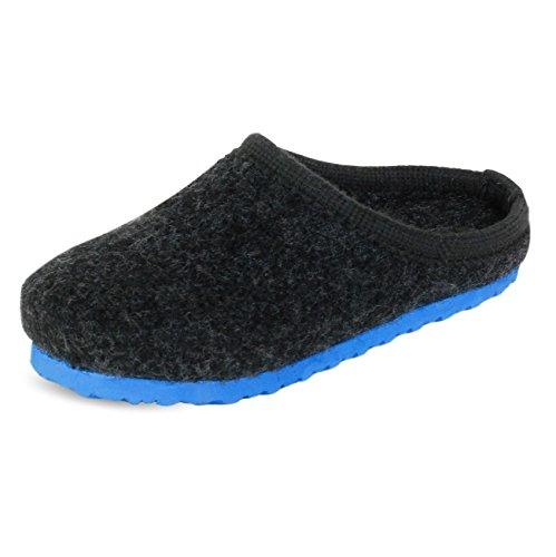 PantOUF Bonitas Zapatillas de estar Por casa Doullens Increíblemente Confortables. Las Zapatillas Son Flexibles, Ligeras, Suaves, Para Las Mujeres/Hombres, Azul/Azul Claro/Naranja