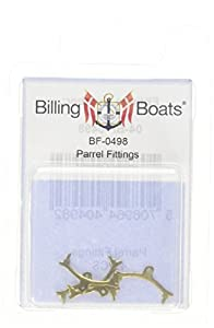Billing Boats Barcos de facturación 2 mm Parrel Forjados para Kit Modelo de construcción