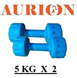 #5: Aurion MATRIX5 Dumbbell Set, 5Kg Set of 2 (Blue) …