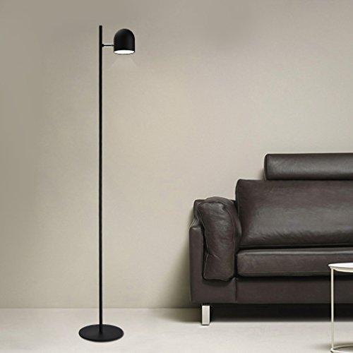Preisvergleich Produktbild Tonffi Stehlampe Tageslichtlampe LED Standleucht dimmbar 5W 270LM Touch-Schalter Wohnzimmerlampe Eisen schwarz