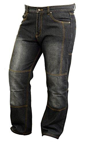 Moto jeans forrados en Kevlar con armaduras resistentes a la abrasión, W36...