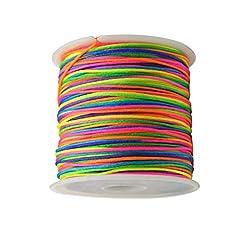 Idea Regalo - Toyandona - Filo di nylon colorato per braccialetti, filo da pesca, per artigianato, gioielli, lunghezza: 45 m