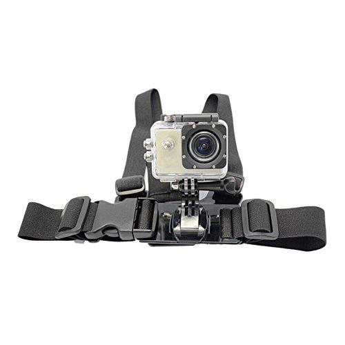 Sjcam Aodoor Adjustable Elastic Chest Body Harness Strap Belt Mount for Gopro Hero 1 2 3 3+ 4 Sprots Camera Sjcam Sj4000 Sj5000 Sj5000 Black