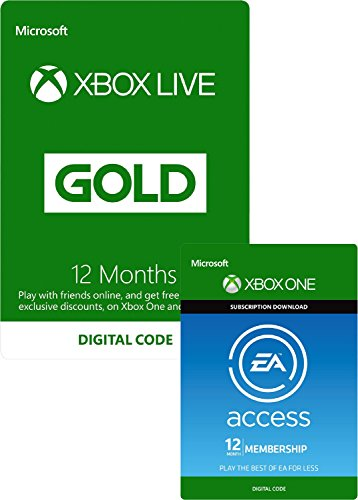 EA Access and Xbox Live Gold Membership 12 Months [Xbox Live Download Code]