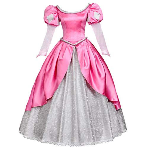 rinzessin kleid lolita layered-partei-kostüm ballkleid Rosa Medium ()