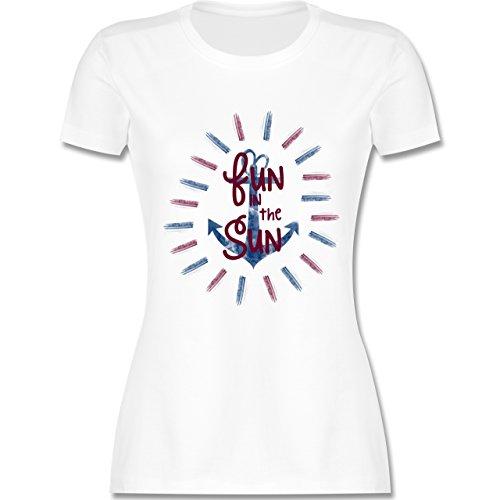 Statement Shirts - Fun in the sun - tailliertes Premium T-Shirt mit Rundhalsausschnitt für Damen Weiß