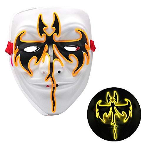 Beängstigend Kostüm Ratte - Halloween Party Maske Leuchten Phantasie Ball Maske LED Beängstigend Maske Weihnachten Festival Kostüm Gefälschte Maskerade