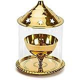 Concepts By Anaisha Brass Golden Akhand Diya Big Gift Item (13 X 10 X 10 Cm)