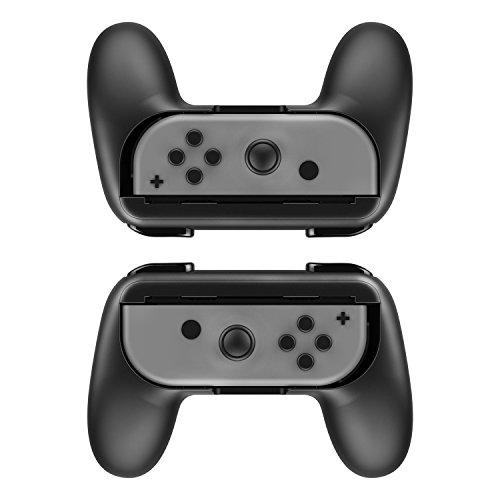 NeroPoke Joy-Con Grip Kit 2Stück für Nintendo Schalter Verschleißfest Joy-Con Controller Schwarz Otterbox Kit