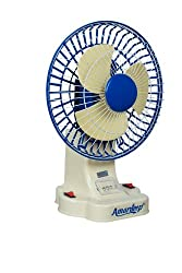 Amardeep Table Rechargeable Fan with Hi-Bright LED light (Made in India)