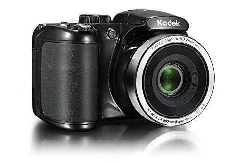 Kodak PIXPRO AZ252 Astro Zoom Bridge Camera - Black + Case + 16GB Memory Card + 4xAA Battery and Charger (16MP, 25x Optical Zoom) 3.0 inch LCD
