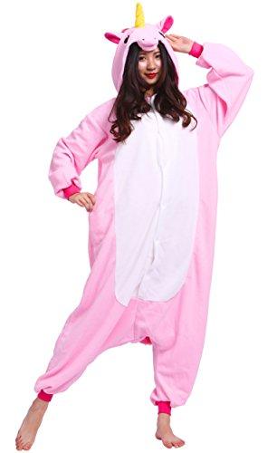 Pijama Unicornio Rosa, Onesie Modelo Animal Cosplay para Adulto entre 1,40 y 1,87 m Kugurumi Unisex