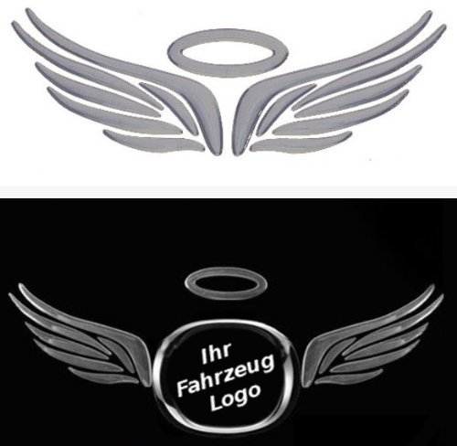3D Chrom Aufkleber Auto Car Sticker selbstklebend Angel Wings Flügel 3D -