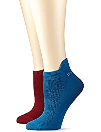 TriAction Damen Sportsocken Triact Perfor Lite Sock2P, 2er Pack, Mehrfarbig (Red-Dark Combination R9), One Size