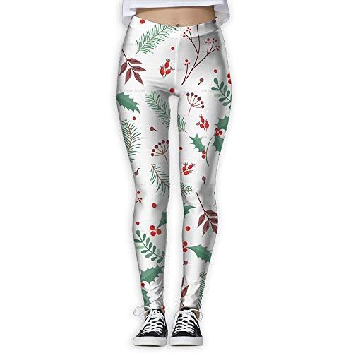 QIAOJIE-High Waist Ultra Soft Lightweight Leggings, Flower Printed Colorful Elastic High Waist Yoga Leggings for Women -
