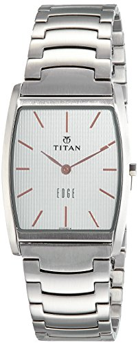Titan Analog White Dial Men's Watch-1044SM16