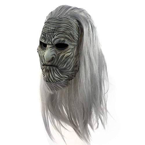 Horror Latex Perücke Maske - Halloween Maske - Cosplay Kostüm Maske - Party Rave Maske - Erwachsene Und - Kostüm Perücken Dallas
