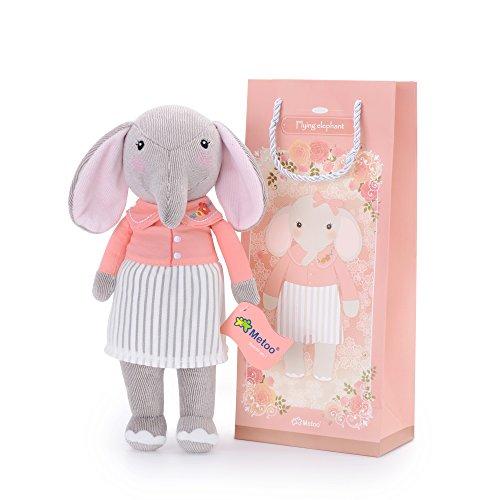 Metoo Elefant Plüsch Spielzeug Puppe Stofftier - Gefüllte Baby Puppen Geschenke 12