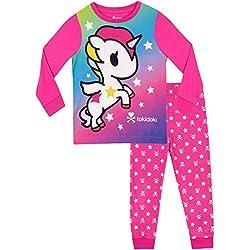Tonidoki Pijamas de Manga Corta para niñas Unicornio Rosado 6-7Años