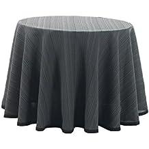Martina Home Ribero - Falda para mesa camilla , Negro, Redonda de 100