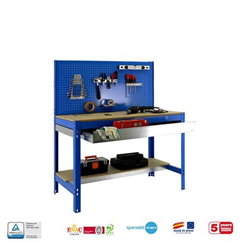 simonrack bt-2Box 1200-Set Werkbank blau/Holz - 4