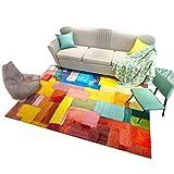 Designer Teppich Nordic Modern Einfachheit Abstrakt Persönlichkeit Geometrie Teppich Wohnzimmer Couchtisch Schlafsofa Nachttisch Teppich Mit 7 Größen Und Bunt (größe : 120 * 180CM)