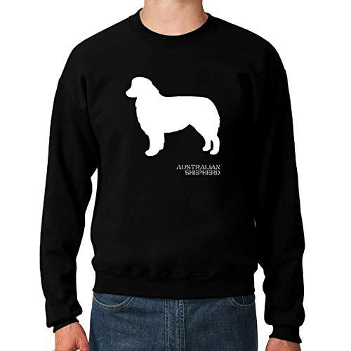 Idakoos Australian Shepherd Shape and Name Sweatshirt M Australian Shepherd Sweatshirt