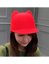53fbdf4be33 FERZA home creative wool spring parent-child Korean version of cute super cute  hat Korean