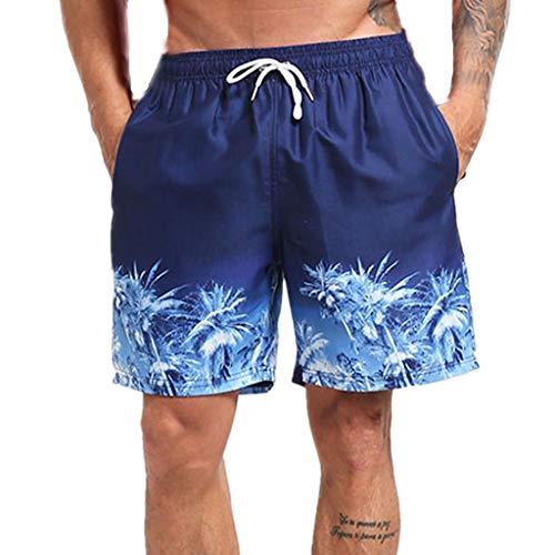 tohole Herren Viertel Shorts Hawaiian Vacation Beach Surf gedruckt Kurze Badehose der Männer schnell trockenes Strand-Surfen laufendes Schwimmen Watershort