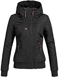 174d5081048d60 DESIRES Damen Elva Winterjacke mit gefütterter Kapuze Jacke 5 Farben XS-XL