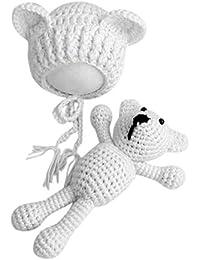 Bébé Bébé Tricot Crochet Bonnets Chapeau avec Poupée Jouet Ensemble Nouveau-Né  Bébé Garçon Fille 928d3d0893e