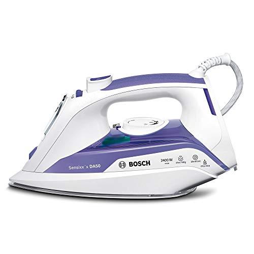 Bosch TDA5024010 Sensixx'x DA50 Plancha de vapor, 2400 W, 5.5 bares de presión, color morado y blanco...
