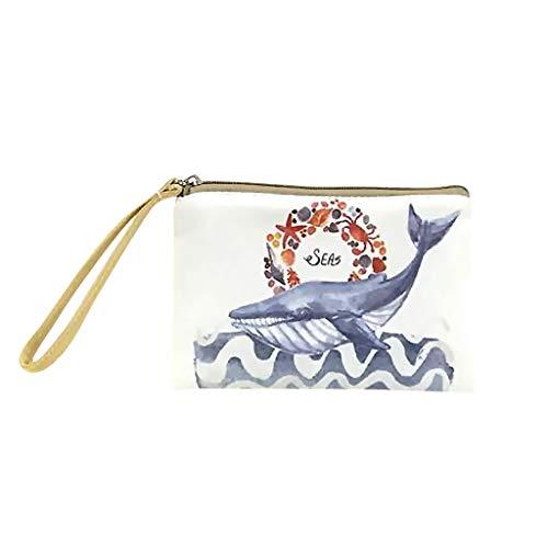 Bfmyxgs stilvolle Handtasche für Frauen Mädchen Geldbörse Make-up Tasche niedliche Leinwand...