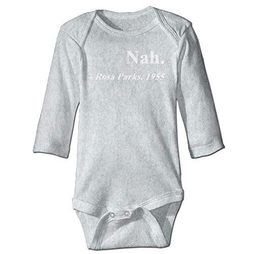 Unisex Infant Bodysuits Nah Rosa Parks Girls Babysuit Long Sleeve Jumpsuit Sunsuit Outfit Ash Rosa Infant Bodysuit