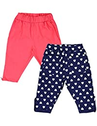 Lil Orchids Girls Pack of 2 Casual Knee Length Pant(LO-2PCK-WVN-CPR-CMB-7)