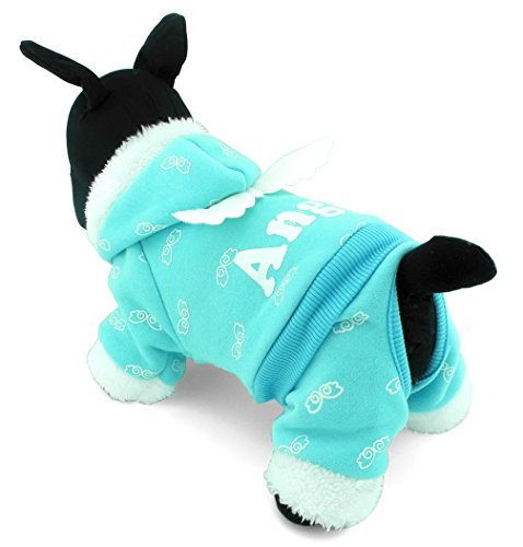ranphy Small Pet Kostüm Hund Pyjama Katze Kleidung Warm Fleece Engel Hoodies Jacke Coat (Für Dress Fancy Kostüme Babys Cute)