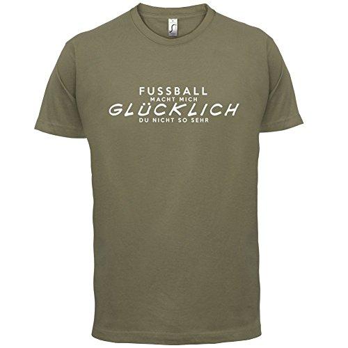 Fussball macht mich glücklich - Herren T-Shirt - 13 Farben Khaki