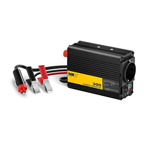 MSW Spannungswandler Wechselrichter Stromwandler MSW-CPI-300MS (300 W, DC 12 V zu AC 230 V, modifizierte Sinuswelle inklusive Kfz-Adapterstecker) -