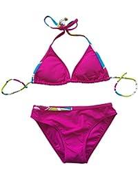 Le Besi Girl 's Fashion Bañador Halter elegante de tres piezas Swimdress