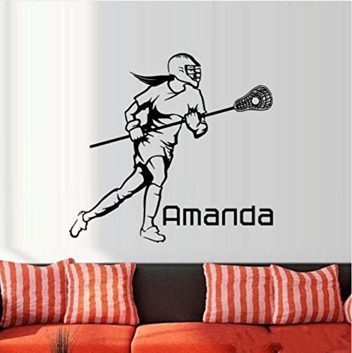 Acrosse Helm Player Wandaufkleber Für Kinder Kinderzimmer Jugendliche Jungen Mädchen Aufkleber Dekor Wandkunst Geschenk 56x61cm