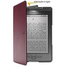 Funda de cuero con luz Amazon para Kindle, color púrpura (sólo sirve para el Kindle)