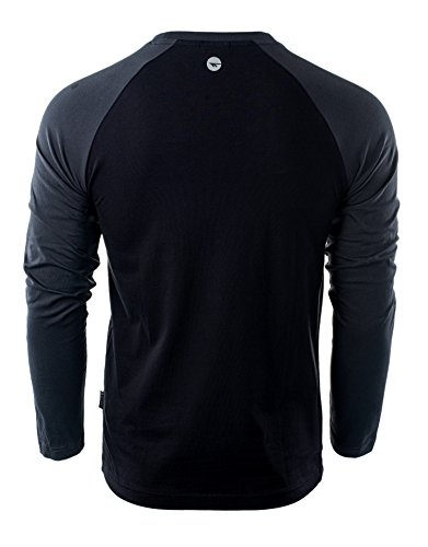 Hi-Tec Herren Puro Long Sleeve Black/Dark Grey