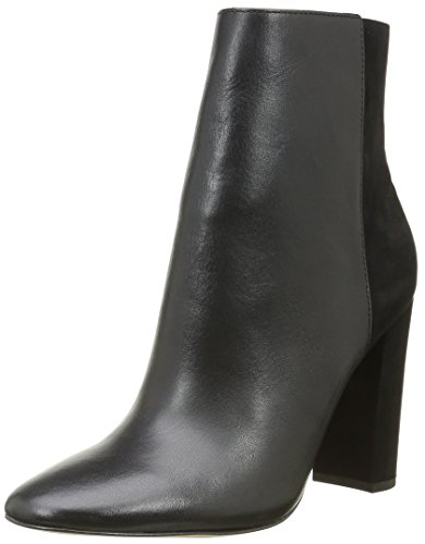 Buffalo London Damen 132209 Vegetal Nobuck Cowboy Stiefel, Schwarz (Black 01), 37 EU
