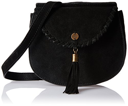 Superdry Ring Donna Cross Body Bag Nero Schwarz