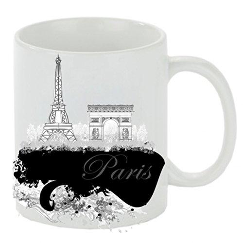 Kaffeebecher ' Paris ' Kaffeetasse, Kaffeetasse mit Motiv, bedruckte Tasse mit Sprüchen oder...