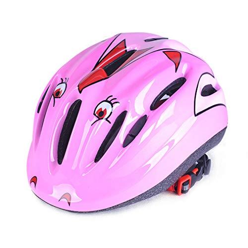 LHY RIDING Casco Ciclo Kids in 10 Fantastici Disegni - per Ciclismo, Pattinaggio, Scooting - Design ventilato Regolabile per la Fascia - Adatto per Bambini di 4, 5, 6, 7, 8, 9, 10 e 11 Anni 200g,Pink