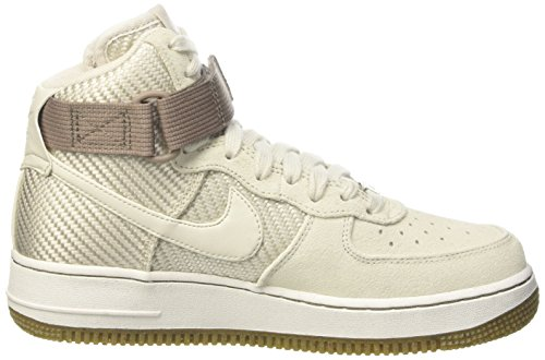 Nike Wmns Air Force 1 Hi Prm, gymnastique femme Blanc (Light Bone)